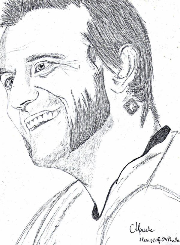 600x814 Second Cm Punk Drawing! Houseofcmpunk's Drawings Of Wwe Superstars