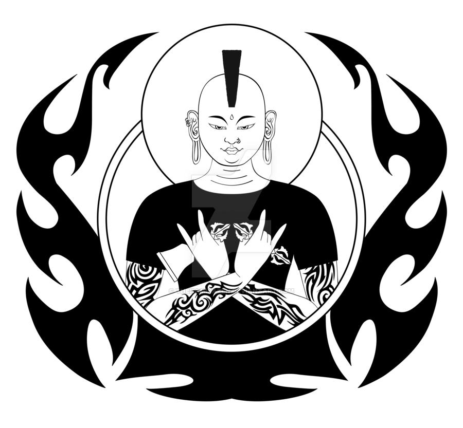 900x833 Punk Rock Buddha By Thekamikazen