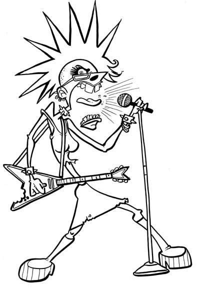 394x576 Toon Challenge Punk Rock Chick ~ Dynasty Caricature
