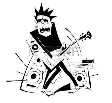 450x413 Punk Clipart Loudly
