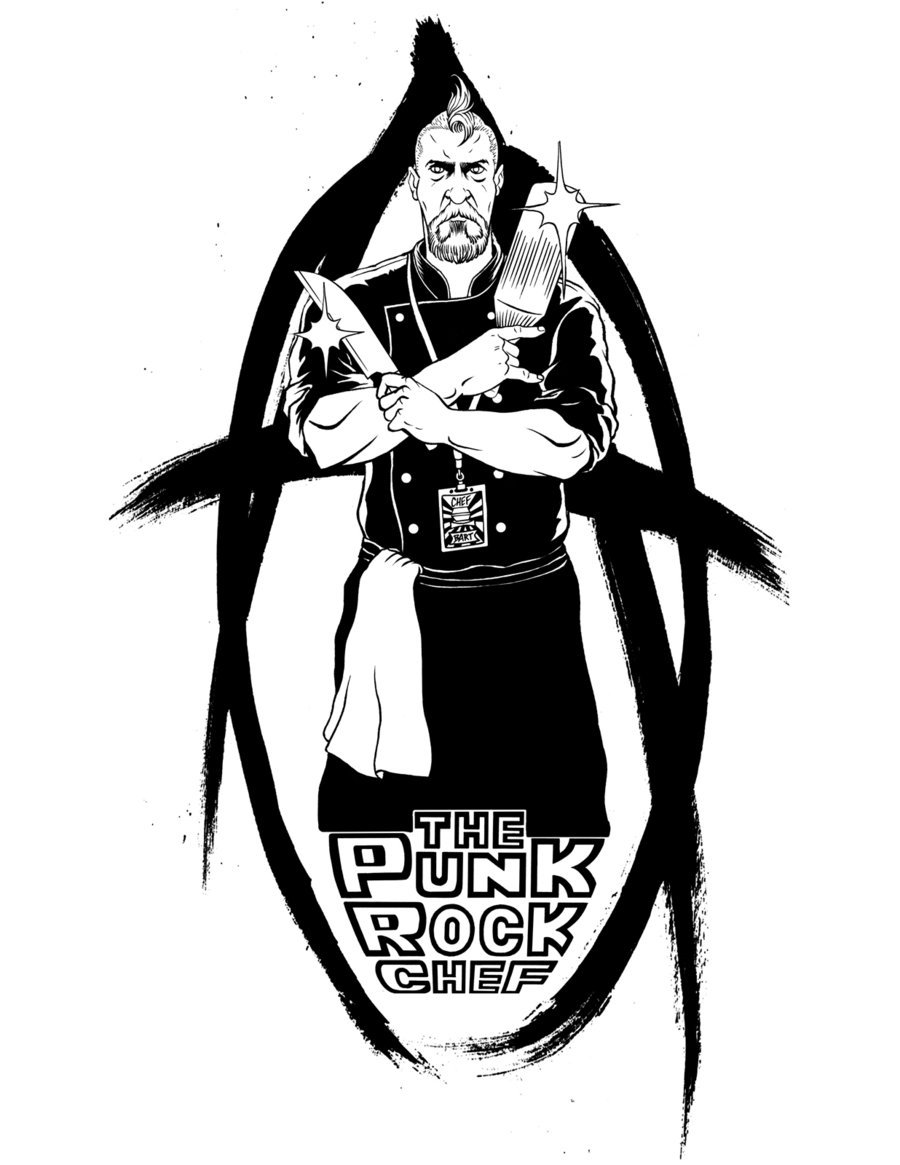 900x1165 The Punk Rock Chef Inks By Davidgmiley