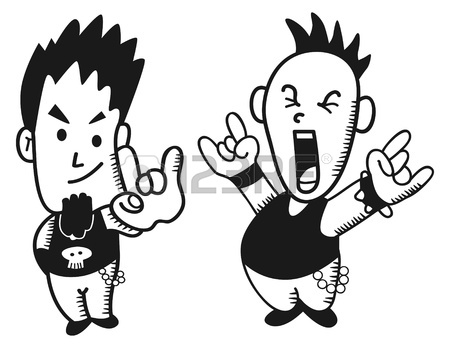 450x348 Little Punk Rocker Royalty Free Cliparts, Vectors, And Stock