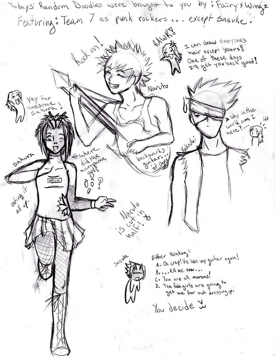 885x1146 Naruto Punk Rocker Sketches By Fairyxwingz