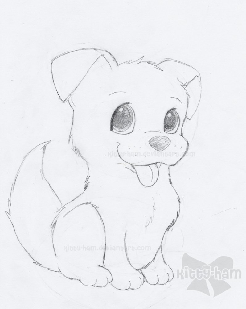 798x1001 Puppy Drawings Puppy Sketch By Kitty Ham