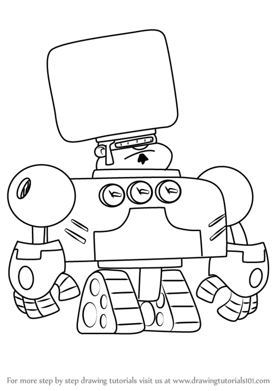 567x800 Learn How To Draw Robo Ron From Atomic Puppet (Atomic Puppet) Step