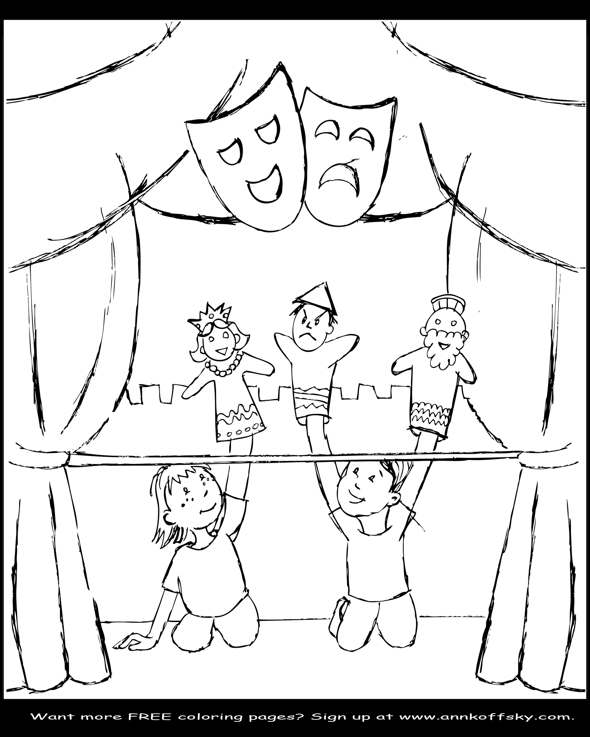 2400x3000 Puppet Coloring Pages