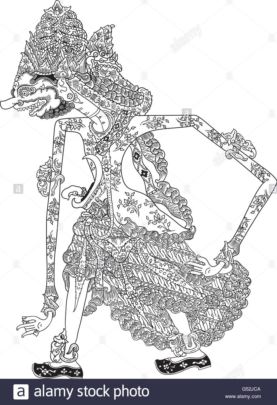 951x1390 Wrahaspati, A Character Of Traditional Puppet Show, Wayang Kulit