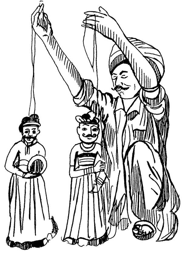 600x840 Awesome Puppet Show Coloring Page Coloring Sky