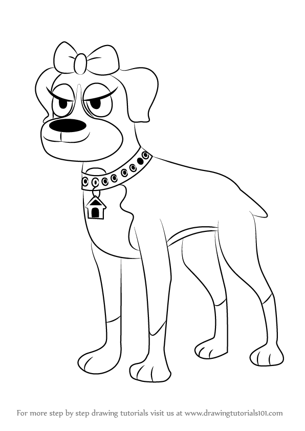 596x842 Learn How To Draw Cookie From Pound Puppies (Pound Puppies) Step