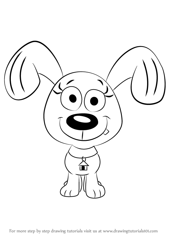 596x842 Learn How To Draw Rebound From Pound Puppies (Pound Puppies) Step