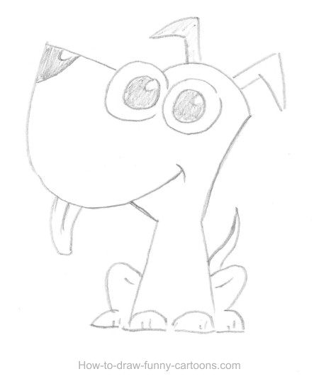 450x551 Puppy Drawing (Sketching + Vector)