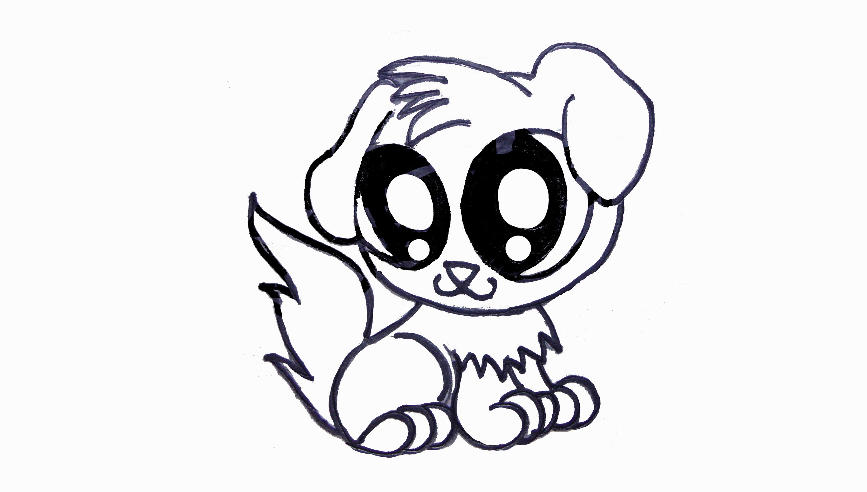 3000x1703 Cute Drawings Of Puppies