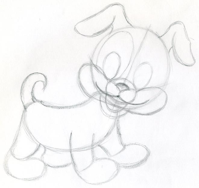 660x624 Draw Cartoon Puppy. Very Cute.