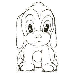 Puppy Cartoon Drawing