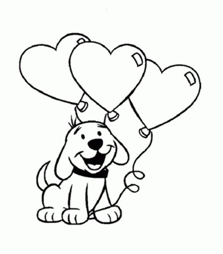 450x514 Puppy Love Coloring Book Pages For Kids Gtgt Disney Coloring Pages