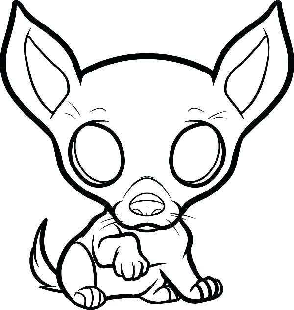 600x633 Puppy Dog Coloring Pages Puppy Dog Coloring Page Chihuahua Puppy