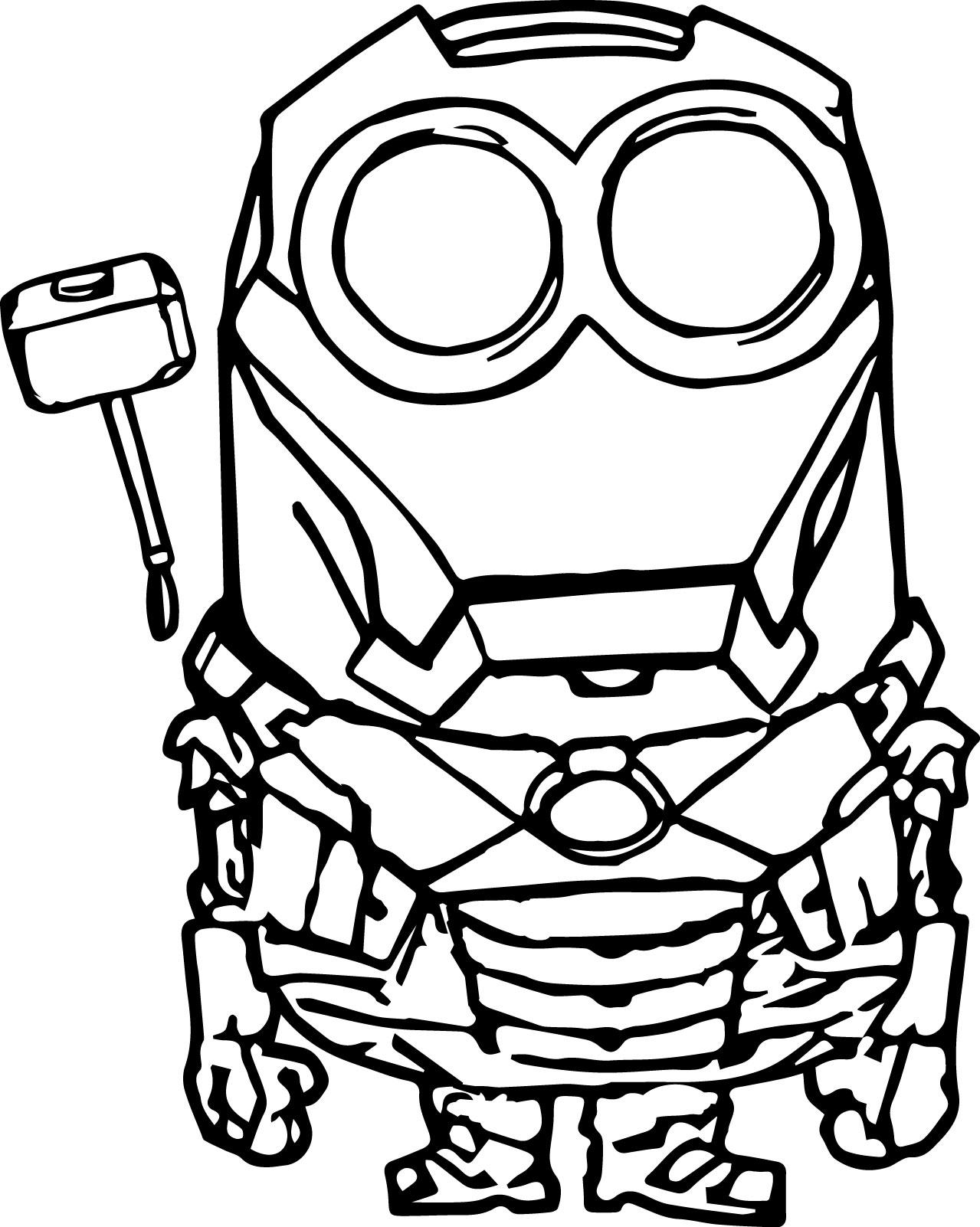 1279x1602 Robot Minion Coloring Page Wecoloringpage