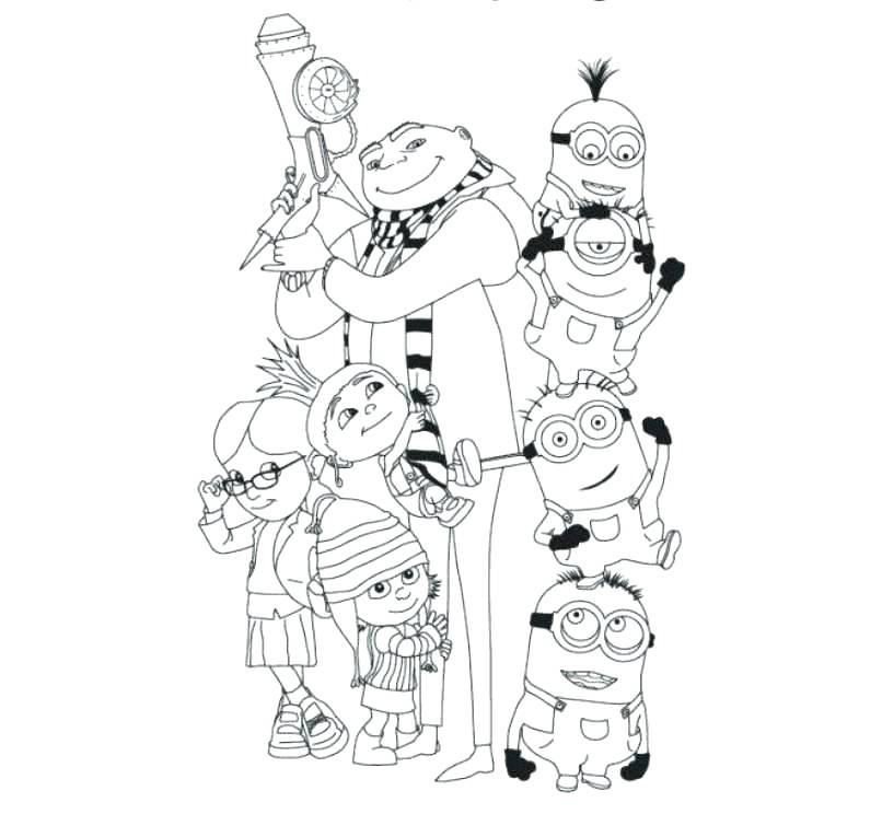 806x744 Despicable Me Minions Coloring Pages Despicable Me Coloring Pages