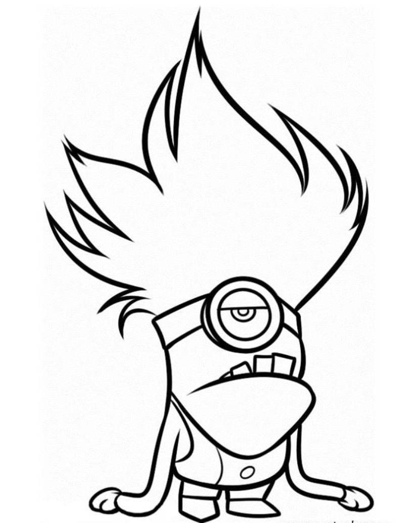 825x1033 Download And Print Evil Minion Despicable Me 2 Coloring Pages