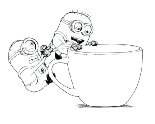 600x480 Despicable Me 2 Coloring Pages To Print Drawn Birthday Minion