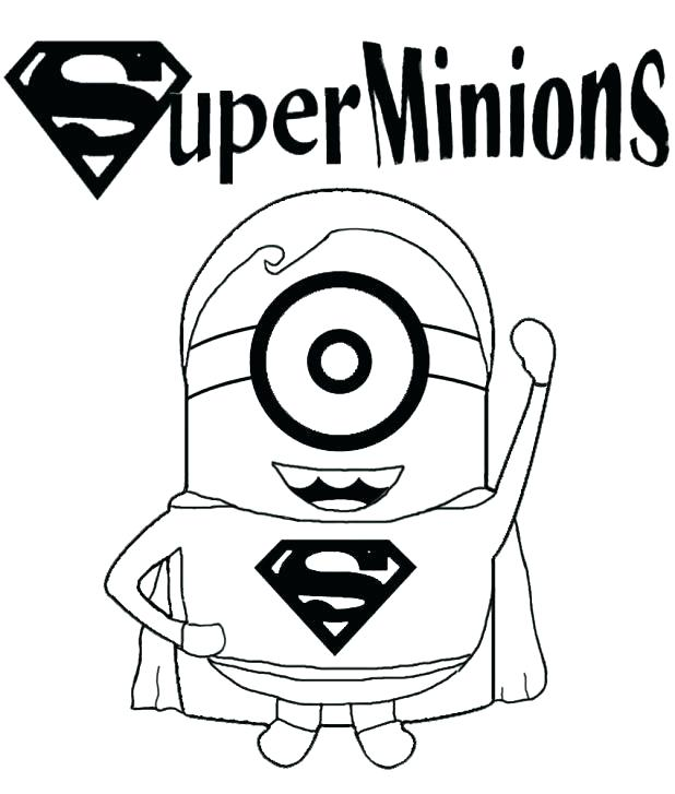 618x727 Top Rated Minion Coloring Pages Pictures Evil Minion Despicable Me