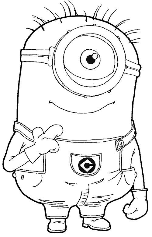 500x778 Coloring How To Draw A Minion Step By Step For Beginners As Well