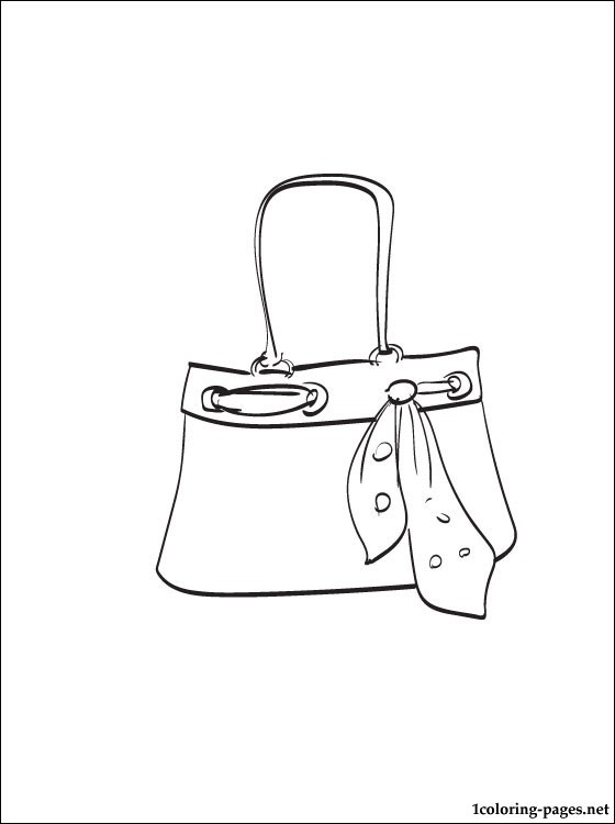 560x750 Handbag Coloring Page Coloring Pages