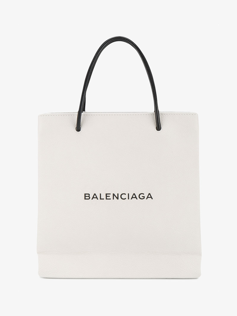 800x1067 Balenciaga White Shopping Small Leather Tote Bag Tote Bags Browns