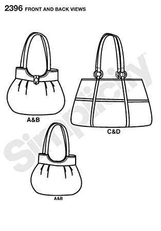 313x450 Simplicity Pattern 2396 Tote Bags 4 Styles Designed By