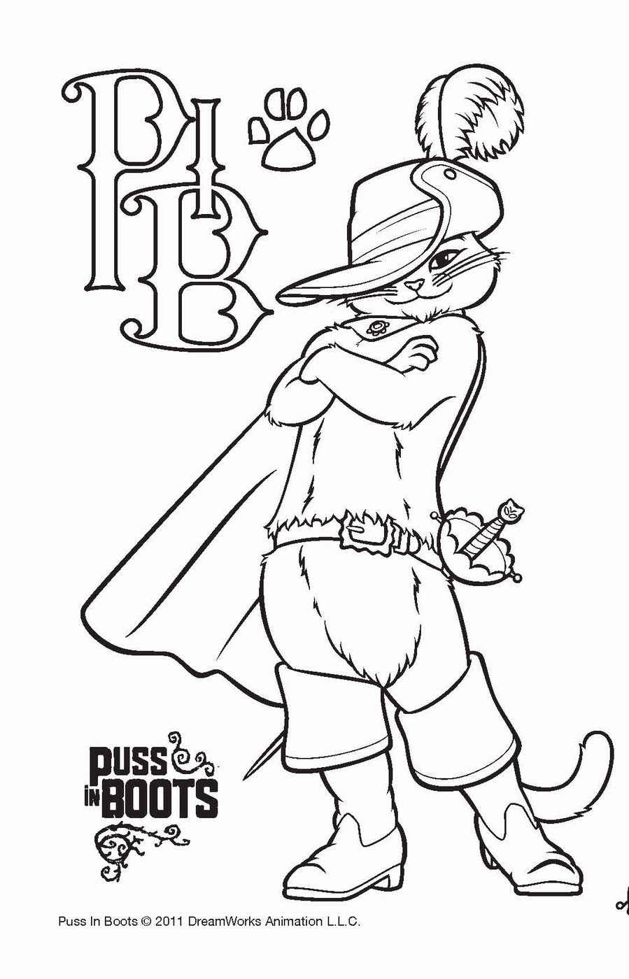 Puss In Boots Drawing at GetDrawings.com | Free for personal use ...