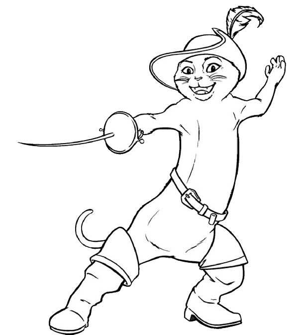 593x672 Puss In Boots Coloring Pages