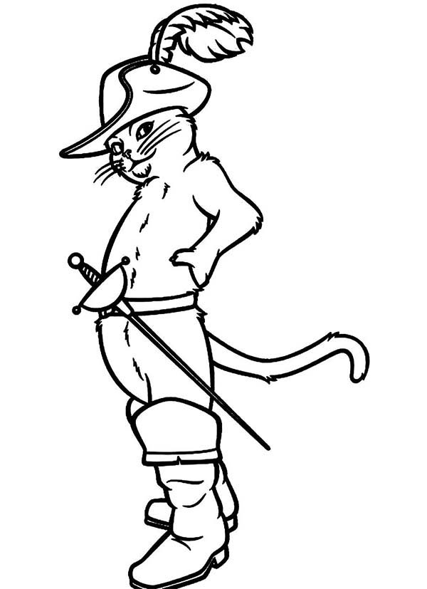 600x827 How To Draw Puss In Boots Coloring Pages Batch Coloring