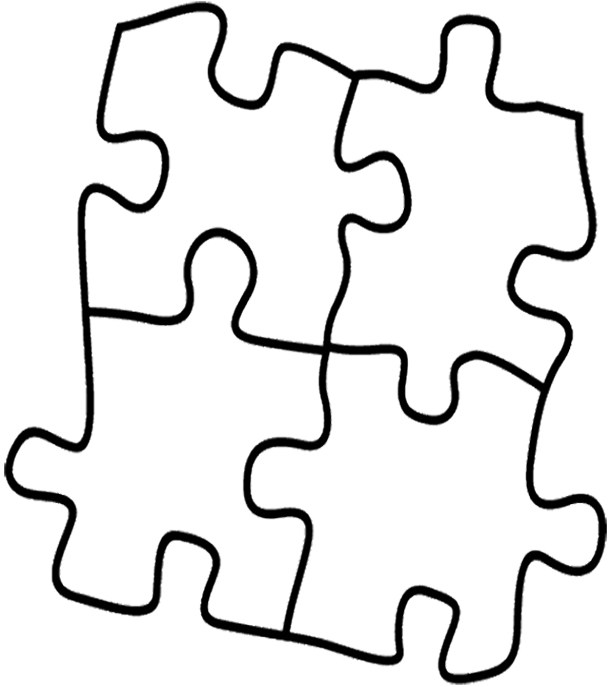 610x687 Puzzle Piece Coloring Page