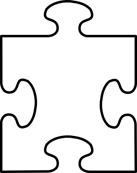 474x595 Puzzle Piece Frame Four Clip Art