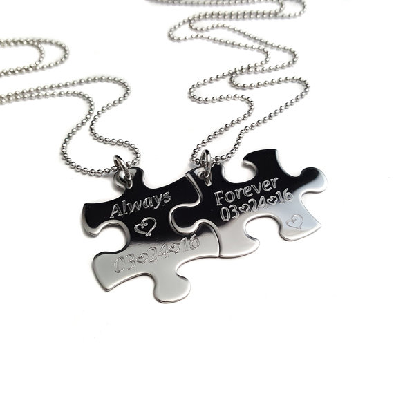 570x570 Puzzle Piece Necklace Always And Forever Couples Jewelry