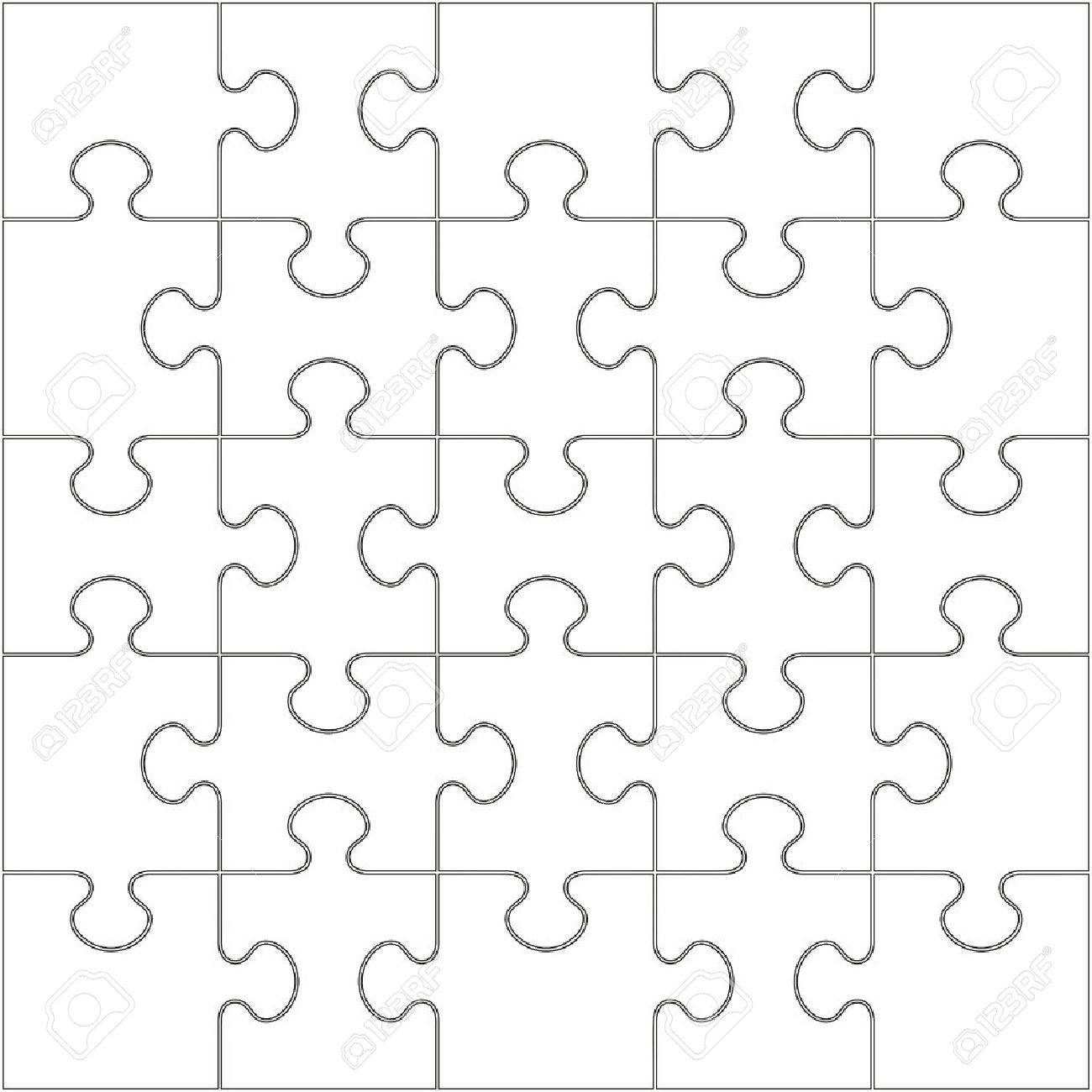 1300x1300 25 White Puzzle Pieces Arranged In A Square
