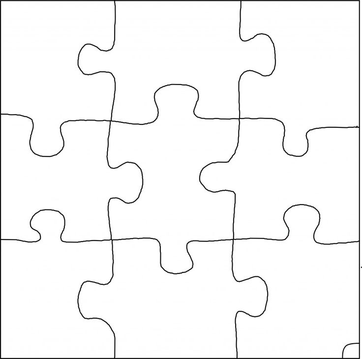 736x730 6 Piece Jigsaw Puzzle Template Printable Puzzle Piece Happycartco