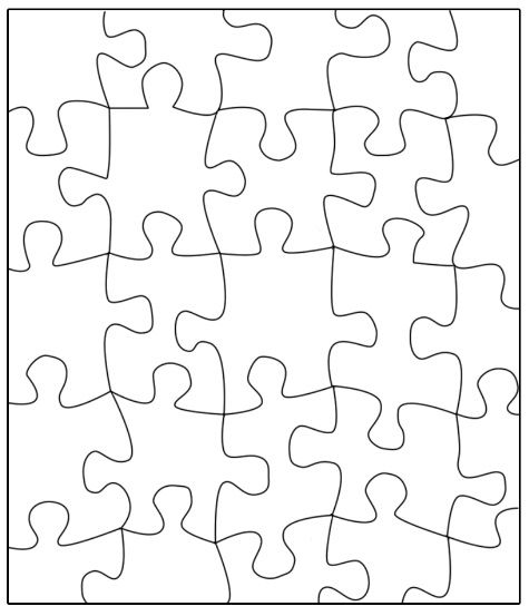 475x553 Puzzle Template Transfer This Puzzle To Large Poster, Write