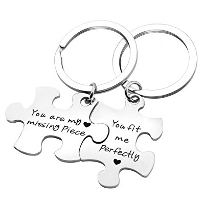 395x395 Seiraa Couples Puzzle Keychain You Are My Missing