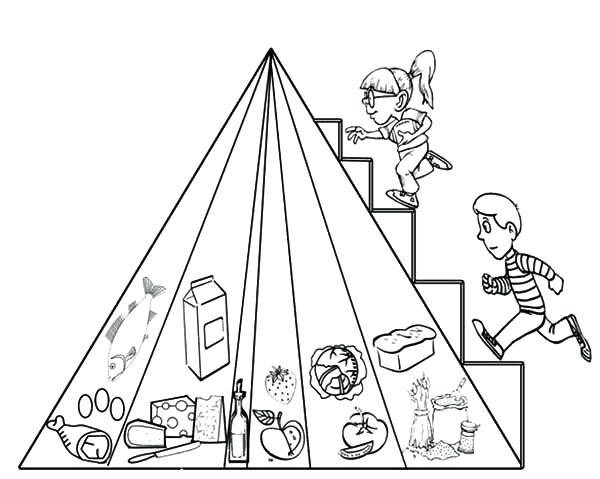 600x479 Food Pyramid Coloring Page Packed With Food Pyramid Two Kids
