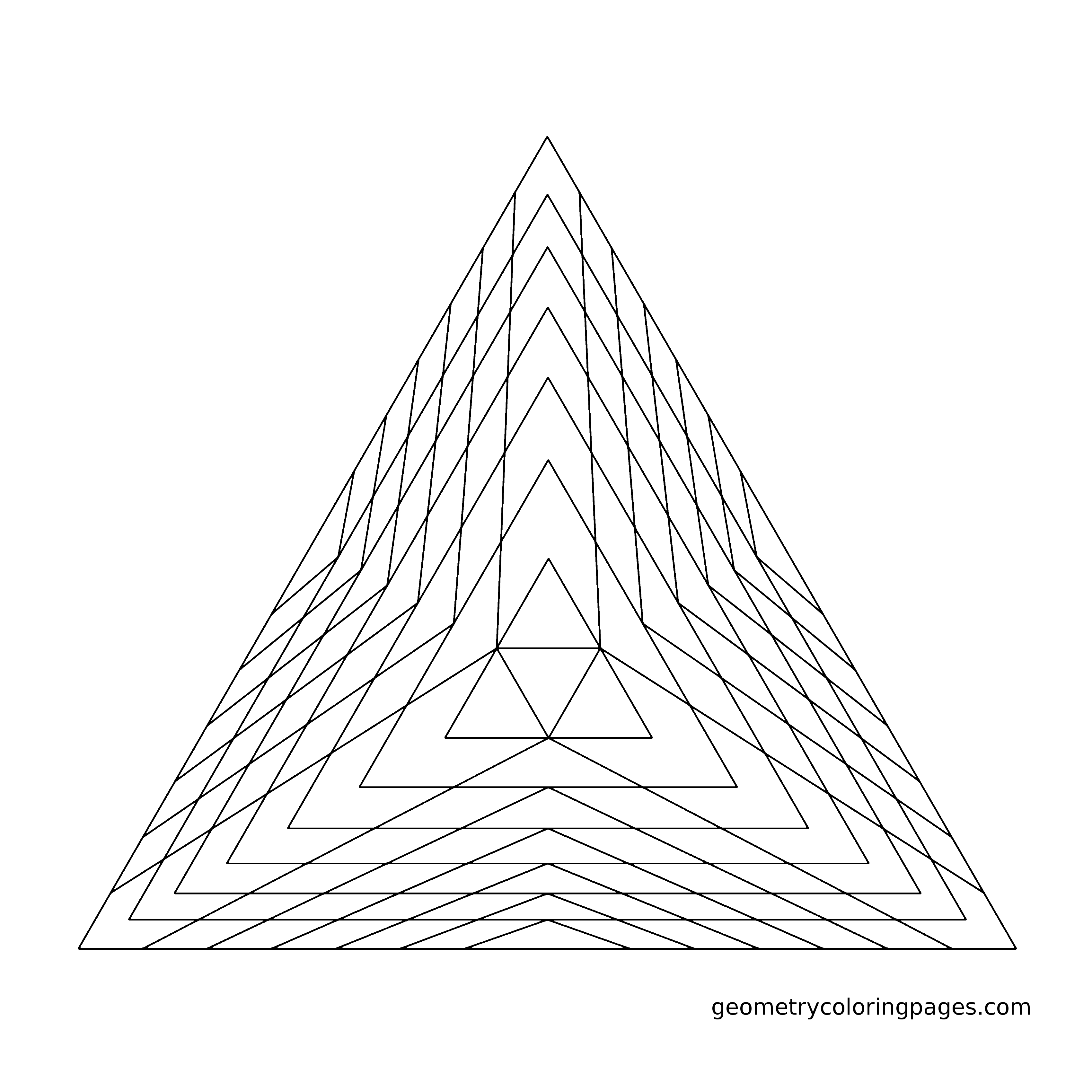 Pyramid Line Drawing at GetDrawings.com | Free for personal use ...