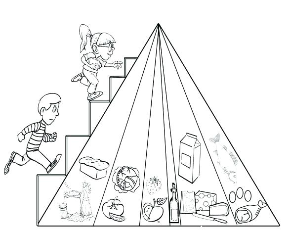 585x467 Pyramid Coloring Pages Pyramid Coloring Page Passing In Front