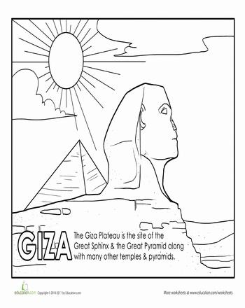Pyramid Of Giza Drawing