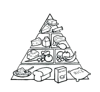 380x351 Pyramid Coloring Pages How To Draw A Pyramid Coloring Page Food
