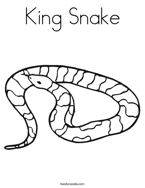 468x605 King Snake Coloring Page