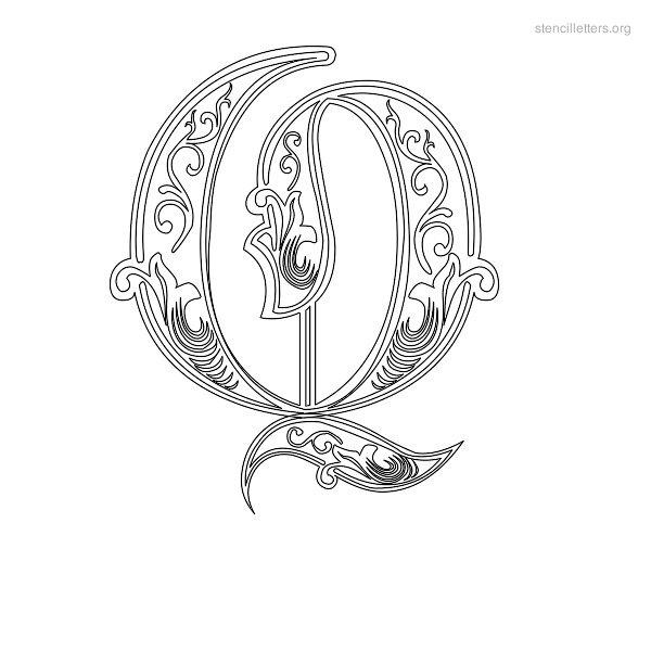 600x600 Stencil Letters Q Printable Free Q Stencils Stencil Letters Org