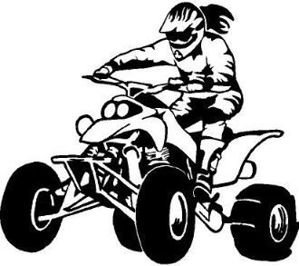 330x293 Quad Girl Stickers Our Products Gtgt Quad Rider Female 3 Cool
