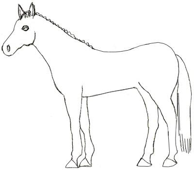 400x349 How To Draw A Horse