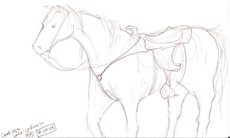 800x481 Quicki Quarter Horse Sketch By Iluvobiwan91