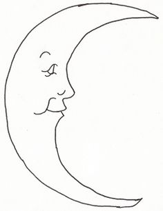 236x306 Man In The Moon Outline For Classroom Therapy Use